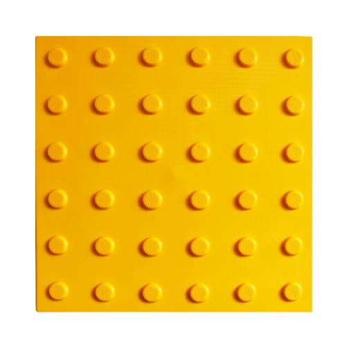 Тактильная плитка ПВХ с конусообразным рифом (300 мм) самоклеящаяся